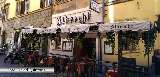 Fernando Albrecht brinca com o nome de uma birreria em Roma que tem seu sobrenome