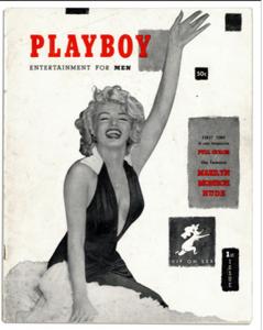 Primeira capa da Playboy trazia a Marilyn Monroe