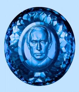 Fernando Albrecht divulga arte de Victor Petrik, que cria retratos em pedra preciosa. O mais recente foi o presidente russo Vladimir Putin.