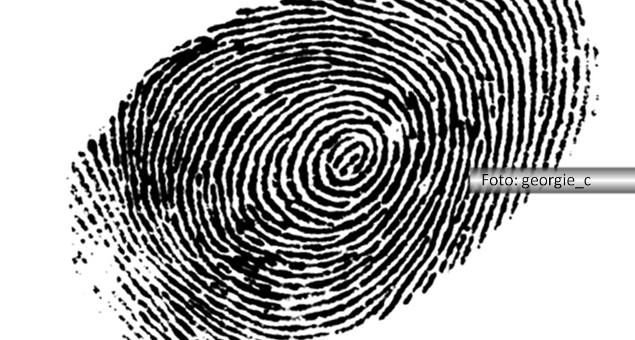 impressão digital de um dedo