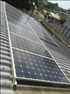 Placa fotovoltaica da Aes Sul