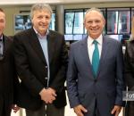 Fernando Albrecht divulga nota sobre visitante Paulo Hartung com Nelson Lidio Nunes