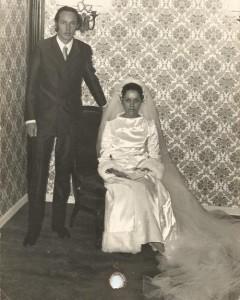 Foto de casamento de Fernando Albrecht com Maria da Graça Pires Freire Albrecht, em 1971