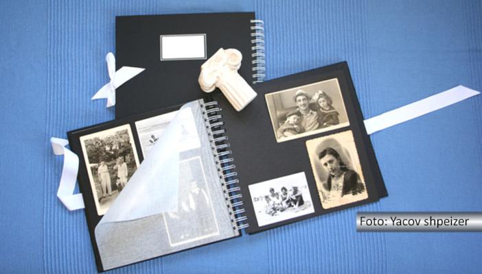 Imagem de um álbum com fotos antigas