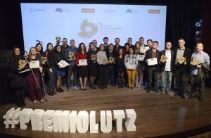 Vencedores do Prêmio Lutz no palco