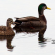 imagens de dois patos reais nadando