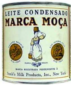 Lata de leite condensado da marca MOça