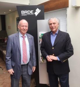 Odacir Klein e o presidente Michel Temer
