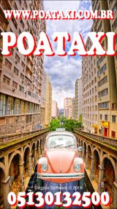 Cartaz do aplicativo de táxi