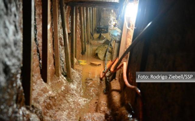 Túnel construído por apenados do Presídio Central mostra obra que parece de empreiteira