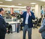 A Renner expande, na foto, Galló com o governador Ivo Sartori e o prefeito Marchezan