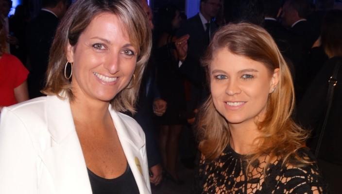 Simone Leite, presidente da Federasul, e Fabíola Eggers, gerente de Relações Institucionais da Fruki,