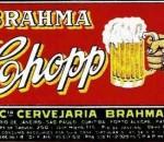 caneca de chope em rótulo da Brahma