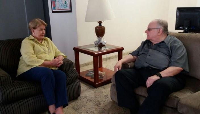 Encontro entre Argollo e Ana Amélia Lemos contra o fechamento do hospital Beneficência