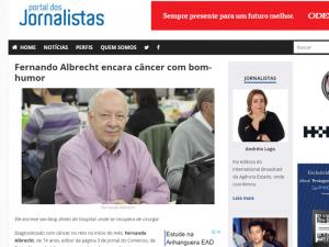 Fernando Albrecht no site Jornalistas & Cia