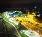 Teste de iluminação na Orla do Guaíba em Porto Alegre - crédito: divulgação PMPA