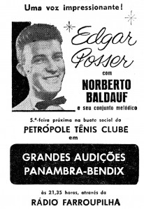 pozzer com Baldauf - anuncio de jornal decada de 60