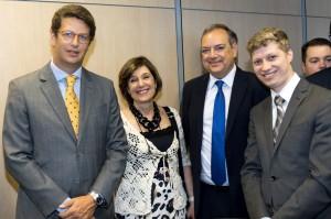 Ricardo Salles, Ana Pellini, Jose Truda Palazzo Jenior e Marcel van Hattem