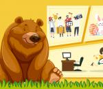 urso hiberna como as pessoas no feriado