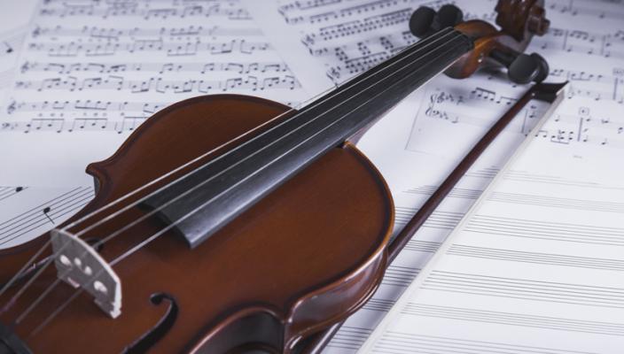 cordas esticadas de violino